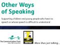 Other ways of speaking