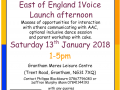 East of England 1Voice launch afternoon